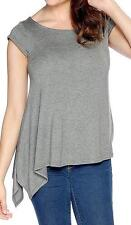 NEW - Fair Child Stretch Knit Cap Sleeved Round Neck Asymmetrical Top - Sz 1X