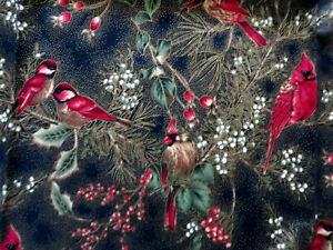 1/2 YD Hoffman International SCREEN PRINT Cotton Quilt Fabric WINTER IMPRESSIONS