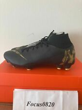 Nike Mercurial Superfly 6 Pro FG Firm Ground Mens Black Gold AH7368-077 MSRP$150