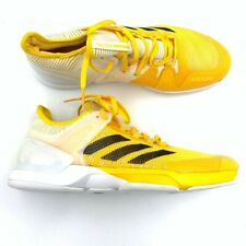 Adidas Adituff Mens Adizero Ubersonic 2 Tennis Shoes Yellow White CG3083 11 New