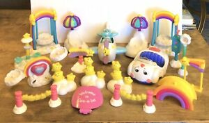 VINTAGE LOT CARE BEARS PLAYSET ACCESSORIES AIRPLANE SWINGS STARS SEE SAW CAR