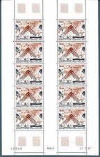 """TAAF - PA - 1987 - Satellite """"INMARSAT"""" in foglio di 10 esemplari"""