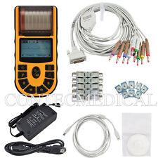CE FDA Digital ECG machine one-channel 12-lead electrocardiograph +PC SW+Printer