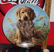 KNOWLES CAUGHT IN THE ACT THE GOLDEN RETRIEVER COLLECTOR'S PLATE FIELD PUPPIES