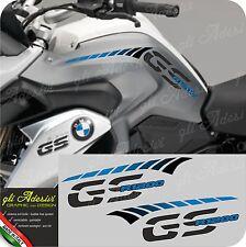 Kit Adesivi Fianco Serbatoio Moto BMW R 1200 gs LC stripes racing CYAN
