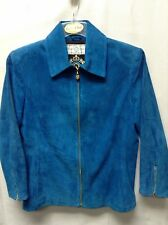 St. John Sport Blue (See Measurements for Size) Suede Jacket Mint Condition
