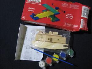 Creatology Bi-Plane 25 Pieces Wood/Rubber Band Kit - Incl. Shipping!