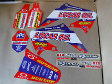 TEAM LUCAS OIL HONDA PTS GRAPHICS CR250 CR125R CR250R  2002 2003 04 05 06 07