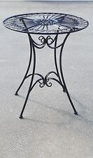 FRENCH DESIGN garden coffee BLACK TABLE outdoor wrought iron quality SUPERB