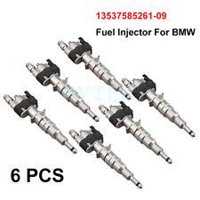 6Pcs 13537585261-09 Fuel Injector For BMW 335i 535i 535 X6 N54 N63 X5 X6 550I