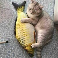 Kleines Haustier interaktive Kicker Katze Spaß Spielzeug Katzenminze Fisch C8B6