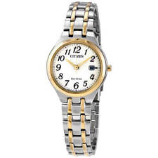 Citizen EW2486-52A para mujer Eco-drive Esfera Blanca Reloj Brazalete TT