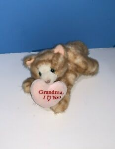 "Russ Tabby Cat 6"" Bean Plush Stuffed Orange Stripe Kitten Grandma I Love You"