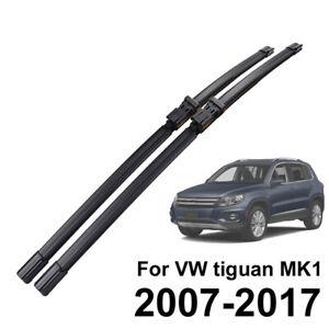 """Wiper Blades For Volkswagen Tiguan 2007 - 2017 24"""" + 21"""" Front Windscreen Wipers"""