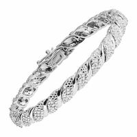 1 ct Diamond Tennis Bracelet in Sterling Silver Plated Brass, 7.5""
