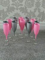 💟💟glitter wine/ champagne glass  💟set of 12 glasses💟