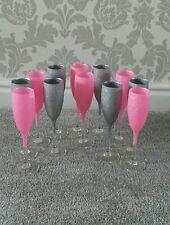 glitter wine/ champagne glass  set of 12 glasses