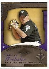2005 UD ULTIMATE COLLECTION PROSPECTS RC #177 Justin Wechsler #247/275