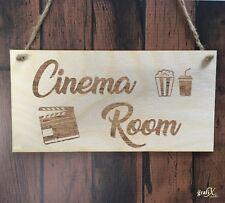 Cinema Movie Room Wooden Plaque Sign Laser Engraved pq75