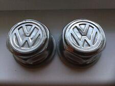 VW Beetle Marathon Edition Wheel Chrome Centre Caps X2