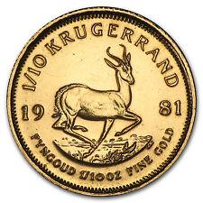 1981 South Africa 1/10 oz Gold Krugerrand - SKU #89277