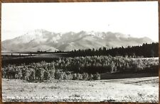 1940 Real Photo Postcard RPPC: Pikes Peak from Bald Mt Rampart Range, Colorado