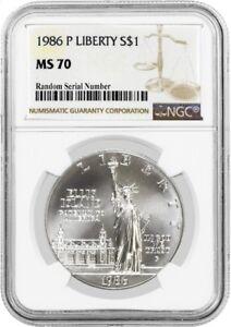 1986 P $1 Statue Of Liberty Centennial Commemorative Silver Dollar NGC MS70