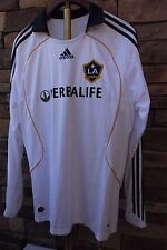 2009 Adidas LA Galaxy Clima365 David Beckham 23 L/S Jersey WHITE MEN'S US XL NEW