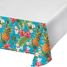 Hawaiian Plastic Tablecover Tropical Pineapple Luau Party Tableware