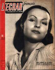 ▬►L'ÉCRAN FRANÇAIS N° 48 (1946) GABY ANDREU_MARCEL CARNÉ_BERNARD BLIER_PINOCCHIO