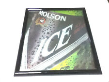 New listing Imported Molson Ice beer sign bar signs 1 framed picture wall display import Wy3
