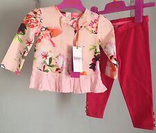 Baby Girls Designer Ted Baker Pink Humming Bird Outfit Top & Leggings 9-12m 🎀