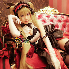 Yamato Sif Ex Shining Hearts-Mistral Golden Anime Cosplay Wig + 2 Ponytails