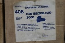Universal Electric Stock# 408 Blower Motor 1/40HP - 115/208-230V - 3000RPM