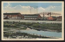 Postcard BARBERTON Ohio/OH  B & W Factory/Plant Works w/Electric Crane 1910's