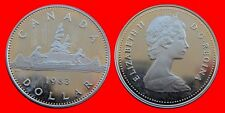 1 DOLLAR 1983 PLATEADO PROOF CANADA-22671