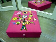 JEWELLERY BOX pink fabric Tree of Life Fair Trade Great Gift Hand Made Boxes