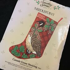 Vtg Something Special Needlepoint Kit Christmas Stocking Canada Goose 30447 17""