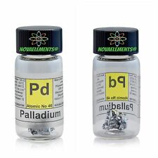 Palladium metal element 46 ~1cm foil ~5mg 99,95% in labeled glass vial