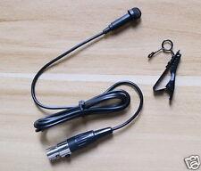 Lavalier Lapel Microphone Black for Shure Wireless Bodypack Transmitters NEW