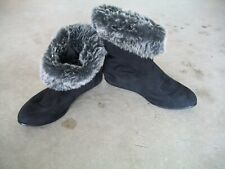 Fur Boots Rampage Alfonso Black Ankle Boots - Size 8 (Medium Width)