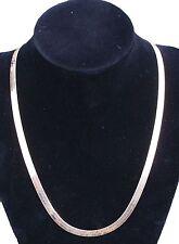 Beautiful Estate 14k Solid Gold Necklace Herringbone design 5mm Wide 8.93 Grams