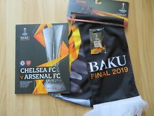 EUROPA LEAGUE FINAL 2019 CHELSEA ARSENAL BADGE PROGRAMME SCARF BUNDLE