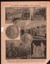 WWI Salon des Armées Exposition jeu de Paume Tuileries Paris 1917 ILLUSTRATION