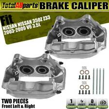 2x Brake Caliper Front Left Right for Nissan 350Z Z33 2003-2009 V6 3.5L 4-Piston