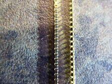 "Vintage 9ct Gold Box Link Chain Necklace 20"" Hallmarked 2.47g"