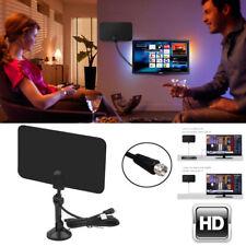 Antena Interior HDTV Amplificador TV Recepción Alcance 75 Millas 4K HD VHF UHF