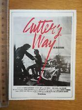 FICHE CINÉMA Première FILM - Cutter's way 1981 Jeff bridges John Heard Lisa Eich