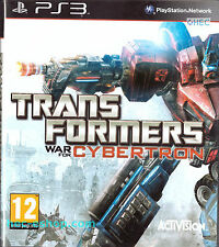Transformers: War for Cybertron Sony Playstation 3 PS3 12+ Action Game
