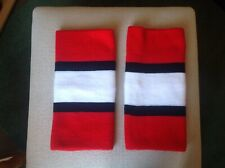New listing pair of skate covers used, but in excellent condition. red, black and white